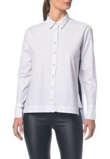 Camisa Ckj Fem Ml Bicolor Faixa Lateral - Branco 2 - 36