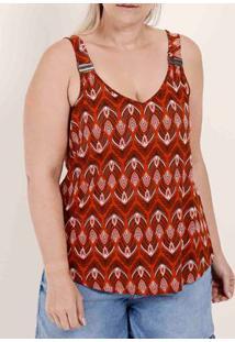 Blusa Regata Plus Size Feminina Habana Telha