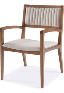 Cadeira Farm Com Bracos Assento E Encosto Estofados - 51166 - Sun House
