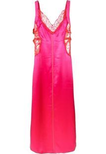 Sies Marjan Alma Satin Side Strapped Dress - Rosa