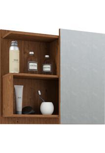 Espelheira Para Banheiro Com 1 Porta 60Cm Lis-Mgm - Amendoa