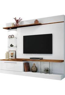 """Home Para Tvs De Até 60"""" Allure Branco / Canyon"""