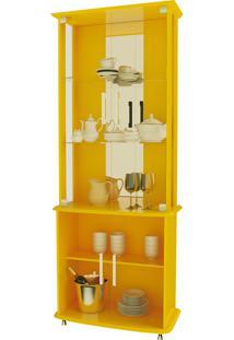 Cristaleira 4070 Luxo Amarelo Móveis Jb Bechara