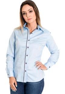 Camisa Pimenta Rosada Marjorie - Feminino-Azul Claro