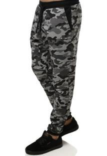 Calça De Tecido Masculina Camuflada Cinza