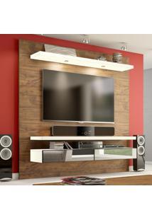 Painel Para Tv 180 Nobre/Off White Com Espelho Tb107E - Dalla Costa