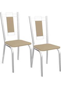 Kit 2 Cadeiras Florença - Kappesberg - Nude