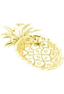 Bandeja Pineapple- Dourada- 2X16,5X10Cm- Lyorlyor