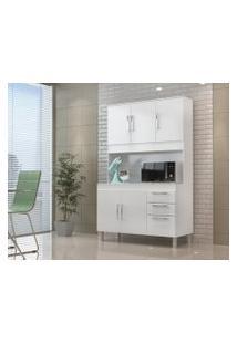 Cozinha Compacta Gemeos 1,14M 5 Portas 3 Gav. Branco Branco