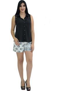 Camisa Energia Fashion Alanis Preto