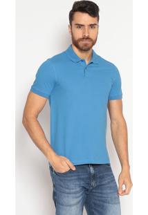 Polo Slim Fit Lisa - Azulindividual