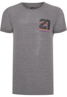 Camiseta Masculina Light Eco 21 Colors - Cinza