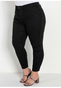 Calça Jeans Black Com Bolsos Traseiros Plus Size