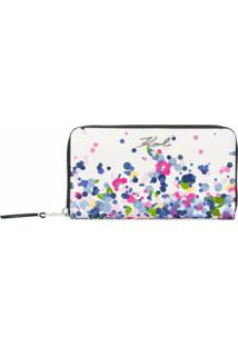Karl Lagerfeld Carteira Continental K/Signature - Branco
