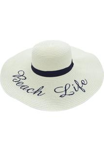 Chapéu De Praia Bali Beach Com Beach Life Bege