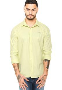 Camisa Colcci Contraste Verde