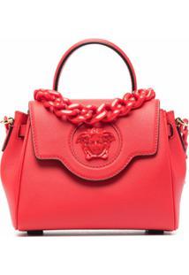 Versace Bolsa La Medusa Pequena - Vermelho