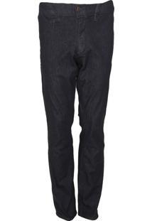 Calça Jeans Lacoste Chino Básica Azul-Marinho