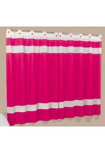Cortina Luiza 3,00M X 2,80M - Tecido Gorgurinho - Pink