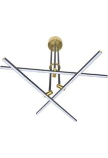 Pendente Led De Metal Mob 57Cmx53Cmx60Cm Bella Iluminação 3X10W Dourado/Preto