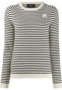 Rochas Suéter Listrado - Branco