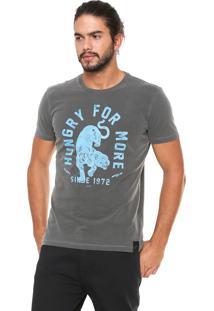 Camiseta Ellus Estampada Cinza