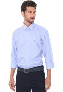 Camisa Dudalina Slim Lisa Azul