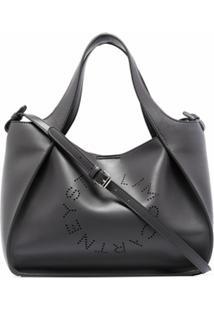 Stella Mccartney Bolsa Transversal Com Logo Perfurado - Cinza