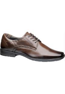 Sapato Pegada Marrom Com Cadarço