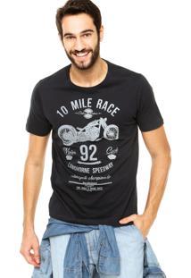 Camiseta Colcci Motors Azul