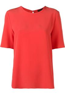 Etro Blusa Mangas Curtas - Vermelho