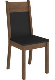 Kit 4 Cadeiras 4280 Madesa Rustic/Preto