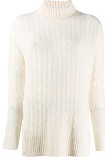 Polo Ralph Lauren Suéter Oversized Com Gola Alta - Branco