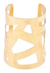 Josie Natori Bracelete Geométrica - Dourado