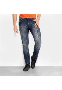Calça Jeans Slim Ellus Deep Blue Masculina - Masculino-Azul Escuro