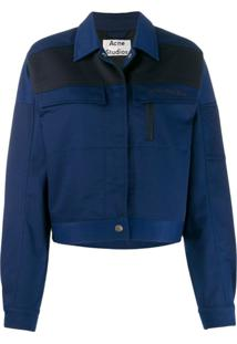 Acne Studios Workwear-Inspired Cropped Jacket - Azul