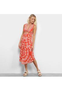 Vestido Farm Cropped Etnico Tropical - Feminino-Estampado