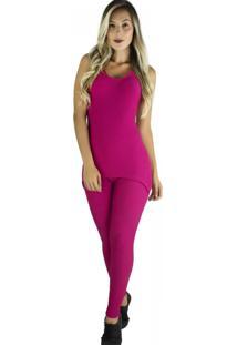 Macacã£O Mvb Modas Longo Saia Tapa Bumbum Tecido Bolha Rosa - Rosa - Feminino - Poliã©Ster - Dafiti