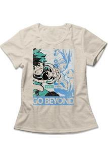 Camiseta Boku No Hero Feminina - Feminino-Mescla