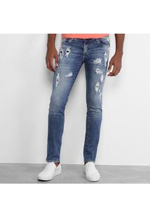 Calça Jeans Skinny Opera Rock Destroyed Masculina - Masculino