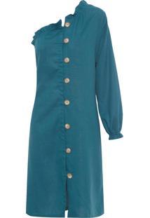 Vestido Ombro Só - Verde