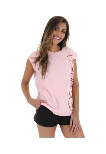 ... Camiseta Regata Fila Outline - Feminina - Rosa Claro 3584e98ca9922
