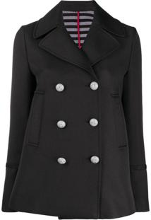 Pinko Double-Breasted Fitted Jacket - Preto