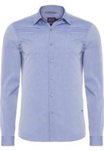 Camisa Masculina Traveller Lisa - Azul