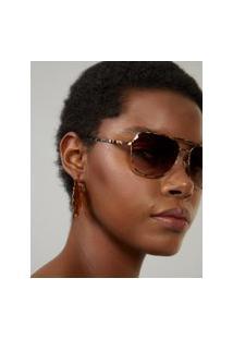 Amaro Feminino Óculos De Sol Aviador Quadrado, Tartaruga