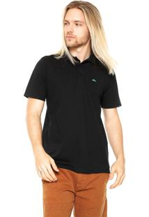 Camisa Polo Quiksilver Slim Preta