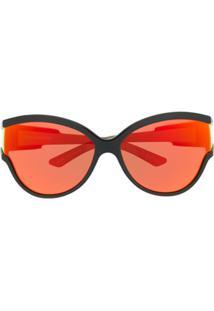 Balenciaga Óculos De Sol Redondo Unlimited - Preto
