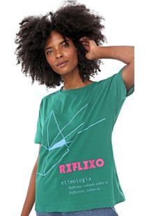 Camiseta Cantão Etimologia Reflexo Verde
