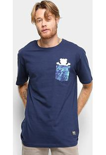 Camiseta Grizzly Deep Water Pocket Masculina - Masculino