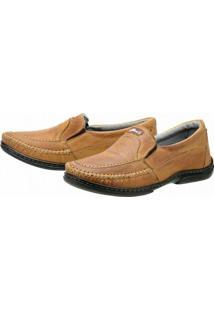 Sapato Conforto - Masculino-Caramelo
